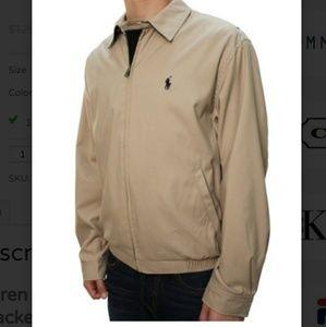 Polo Ralph Lauren khaki windbreaker jacket